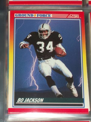 "Bo Jackson RARE 1990 Score ""Ground Force"" Football Card"