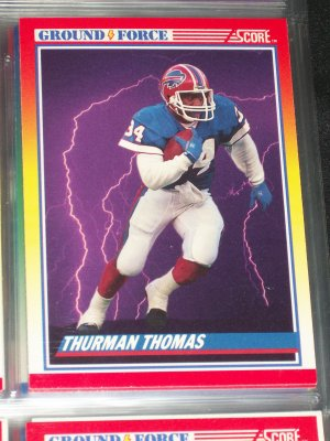 "Thurman Thomas RARE 1990 Score ""Ground Force"" football card"