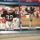 Marcus Allen+Bo Jackson 1990 Pro Set Football Cards