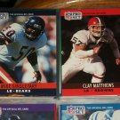 Mike Singletary/Clay Matthews 1990 Pro Set Football Cards