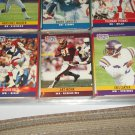 Reed/Monk/Carter 1990 Pro Set Football Cards