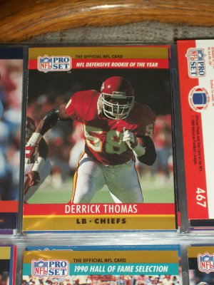 "Derrick Thomas 1990 Pro Set ""NFL Defensive Rookie of the Year"" Football Card"