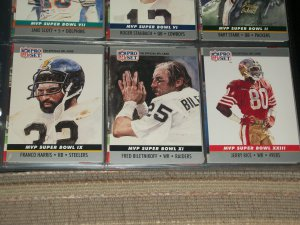 "RARE 1990 Pro Set ""Super Bowl MVP"" Football Cards- Harris/Biletnikoff/Rice-3 cards"