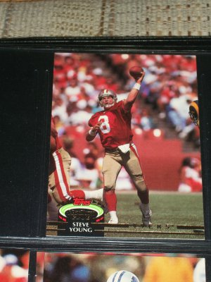Steve Young 1992 Topps Stadium Club football card