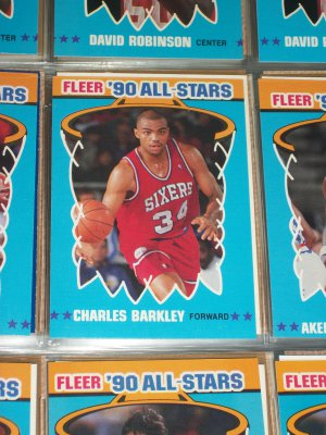 Charles Barkley 1990 Fleer All-Star Basketball Card