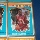 Akeem Olajuwan 1990 Fleer All-Star Basketball Card