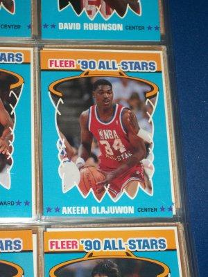 Akeem Olajuwan 1990 Fleer All-Star Basketball Card