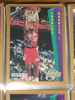 """Charles Barkley 92-93 Fleer """"Slam Dunk"""" Basketball Card"""