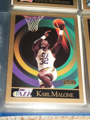 Karl Malone 1990 Skybox basketball card