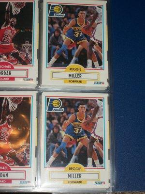 Reggie Miller 1990 Fleer basketball card