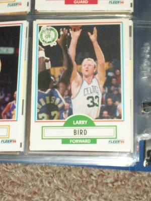 Larry Bird 1990 Fleer Basketball Card