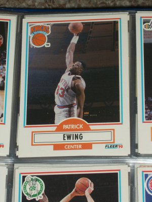 Patrick Ewing 1990 Fleer Basketball Card
