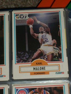 Karl Malone 1990 Fleer Baseball Card