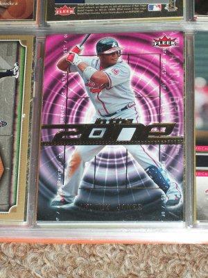 """Andrew Jones 2007 RARE Fleer """"In the Zone"""" Baseball Card"""