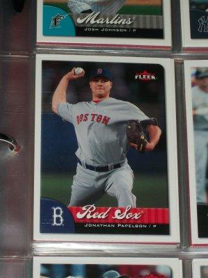 Jonathan Papellbon 2007 Fleer Baseball Card