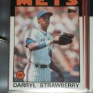 Darryl Strawberry 86 Topps Baseball Card