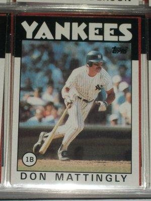 Don Mattingly 1986 Topps Baseball Card