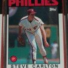 Steve Carlton 1986 Topps Baseball Card