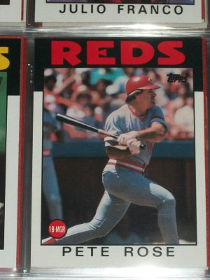 Pete Rose 1986 Topps Baseball Card