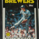 Rollie Fingers 1986 Topps Baseball Card