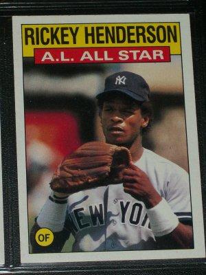 Rickey Henderson 1986 Topps AL ALL-STAR BASEBALL CARD