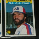 Jeff Reardon 1986 Topps NL ALL-STAR BASEBALL CARD