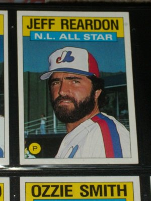 Jeff Reardon 1986 Topps NL ALL-STAR BASEBALL CARD