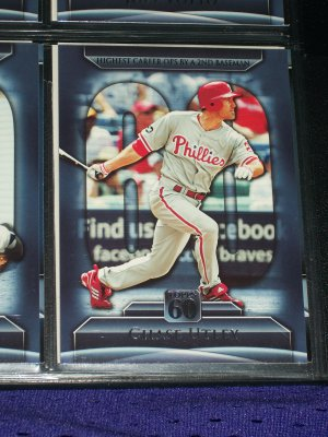 Chase Utley 2011 Topps 60- OPS Leader for Career by 2nd Baseman baseball card