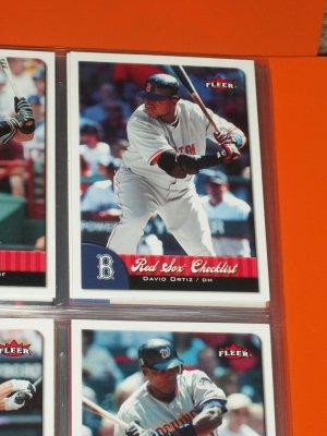 2007 Fleer RED SOX CHECKLIST- David Ortiz Baseball Card