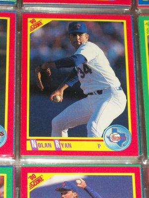 Nolan Ryan 1990 Score Baseball Card
