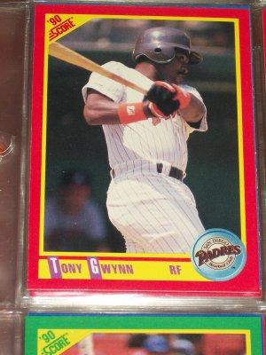 Tony Gwynn 1990 Score Baseball Card
