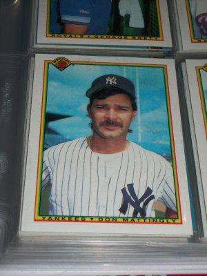 Don Mattingly 1990 bowman baseball card