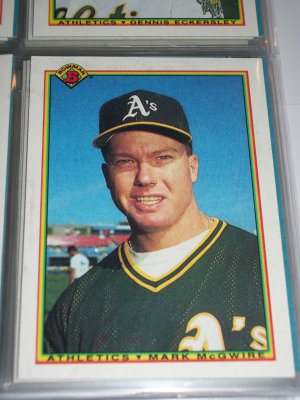 Mark McGwire 1990 Bowman Baseball Card