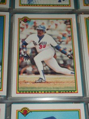 Eddie Murray 1990 Bowman Baseball Card