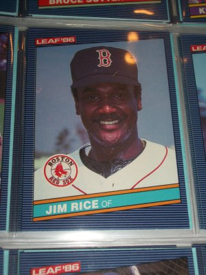 Jim Rice 1986 Leaf baseball card