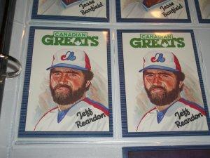 "Jeff Reardon 1986 Leaf RARE ""CANADIAN GREATS"" INSERT baseball card"