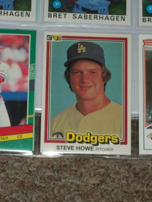 Steve Howe 1981 Donruss Baseball Card