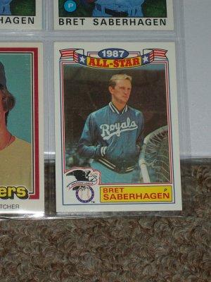 Bret Saberhagen 1988 Topps AL All-Star baseball card