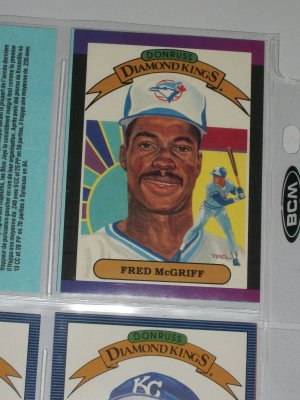 "Fred McGriff 1988 Donruss ""Diamond Kings"" baseball card"