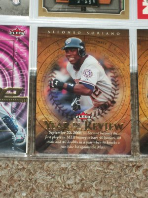 "Alfonso Soriano 2007 Fleer- ""Year in Review"" Baseball Card"