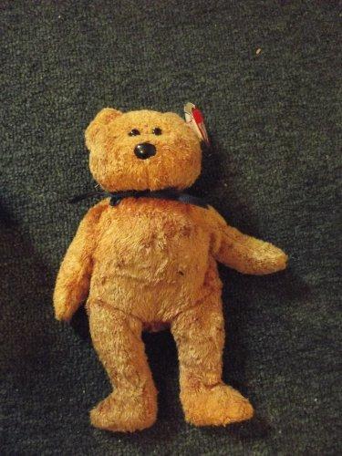 "1998 Beenie Baby ""Fuzz the Bear"""