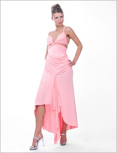 Daring twist front gown by Cote-A-Cote