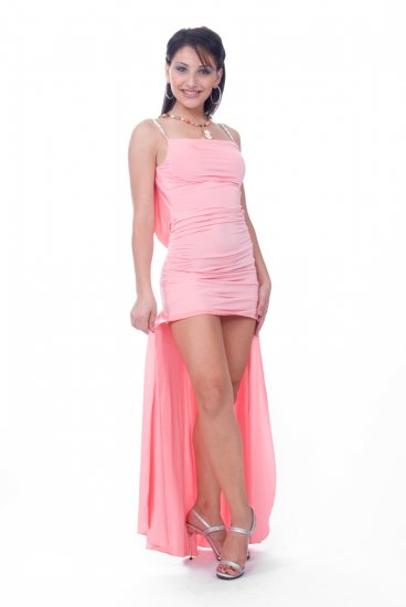 Razzle rhinestone strap gown by Cote-A-Cote Style #2218
