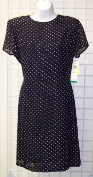NWT Jeffrey & Dara Classic Polka Dot Dress Size 10 240-6 Once Is Never Enough