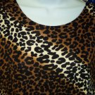 Exotic Floral & Animal Print NWOT IMPRESSIONS Knit Skirt Set Size L Top Size XL Skirt 101-04set