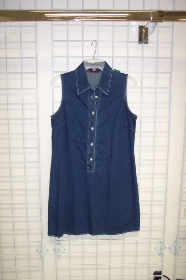 Wonderful Banana Republic Denim Mini Dress Size 10 173-4 Once Is Never Enough