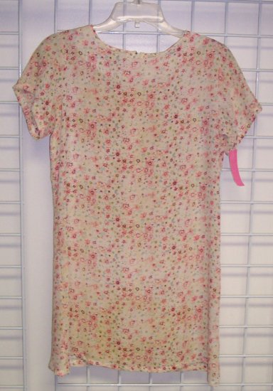 Vintage Genuinely S Y K O SYKO Mini Babydoll Dress Romantic Boho Hippie Top Size M 101-675