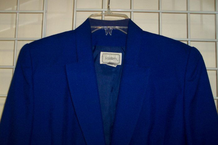 J GALLERY Classic Royal Blue Skirt Suit Size 7/8 101-9suit
