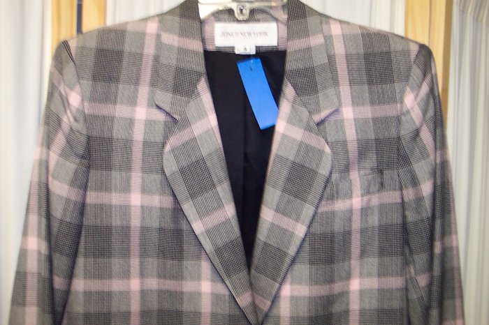 Jones New York Blazer Jacket Size 4 102-35hjacket Once Is Never Enough