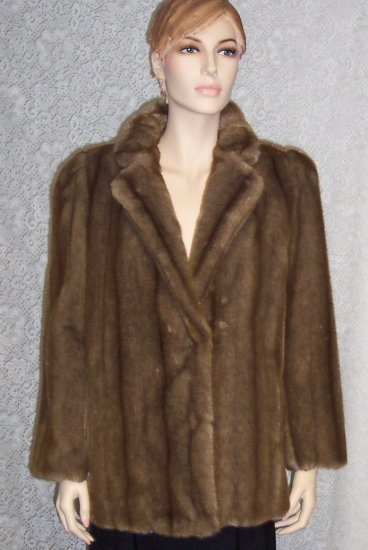 Hillmoor New York Faux Fur Coat Size 12 140-1 Once Is Never Enough